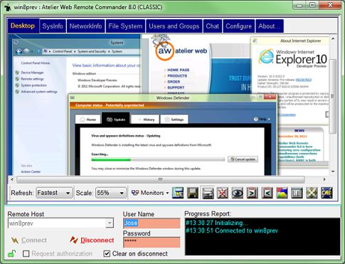 Click to view Atelier Web Remote Commander 8.05 screenshot
