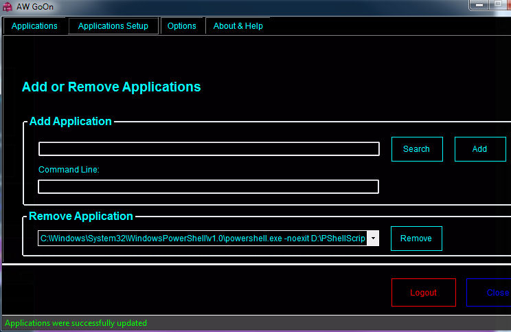 Applications Setup
