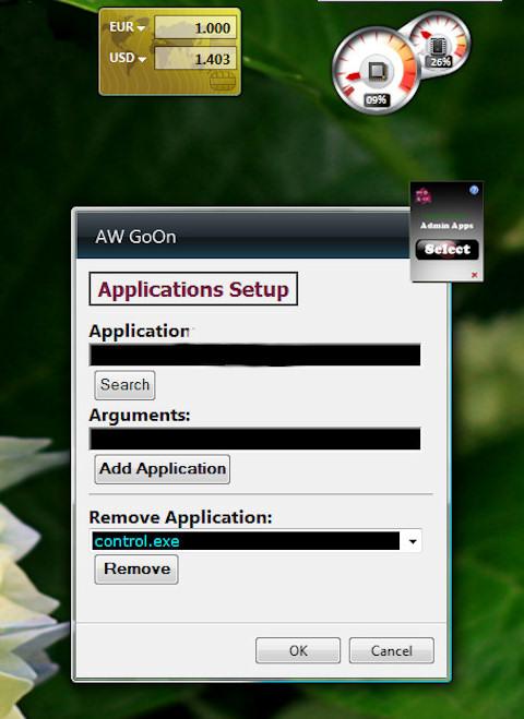 Gadget - Applications Setup